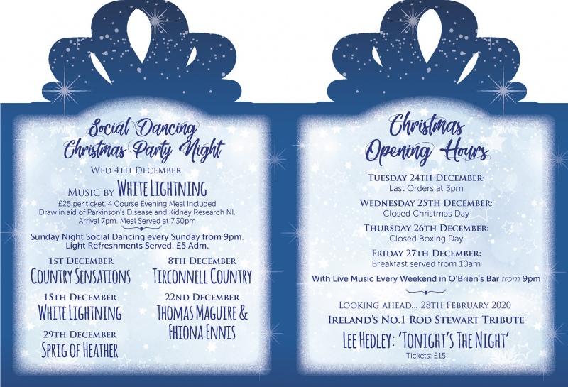 Christmas Entertainment at The Mellon Country Inn